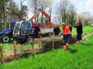 Premiers aménagements anti-érosion à Orp-Jauche